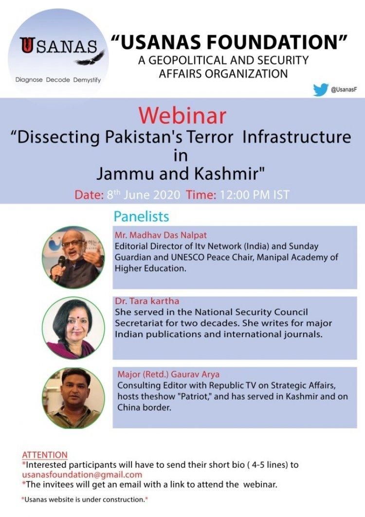 Webinar – Dissecting Pakistan's Terror Infrastructure in Jammu and Kashmir