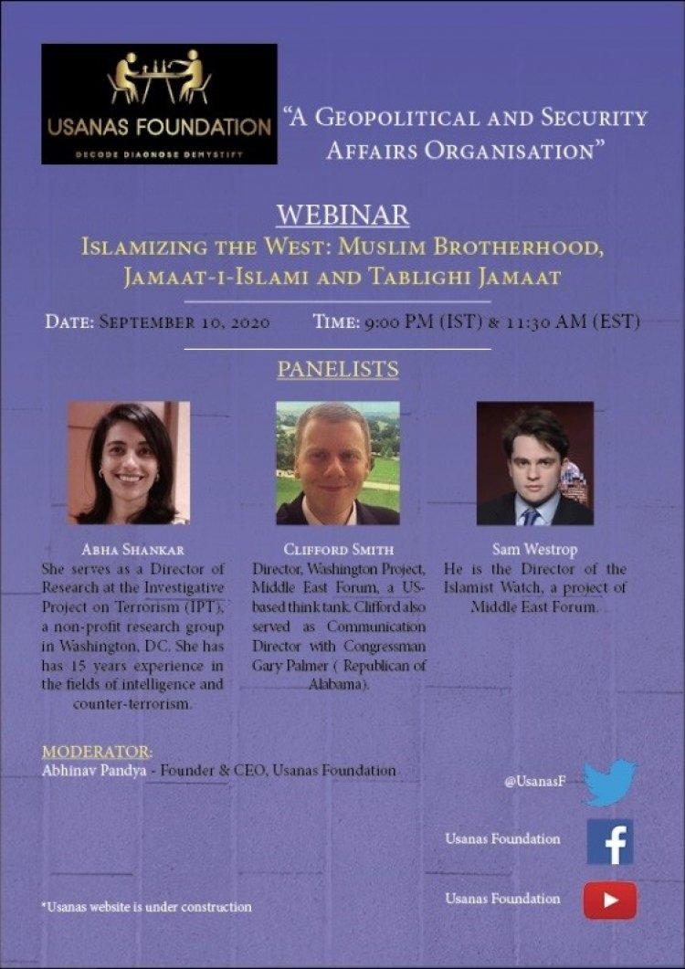 Webinar- Islamizing the West: Muslim Brotherhood, Tablighi Jamaat and Jamaat-i-Islami