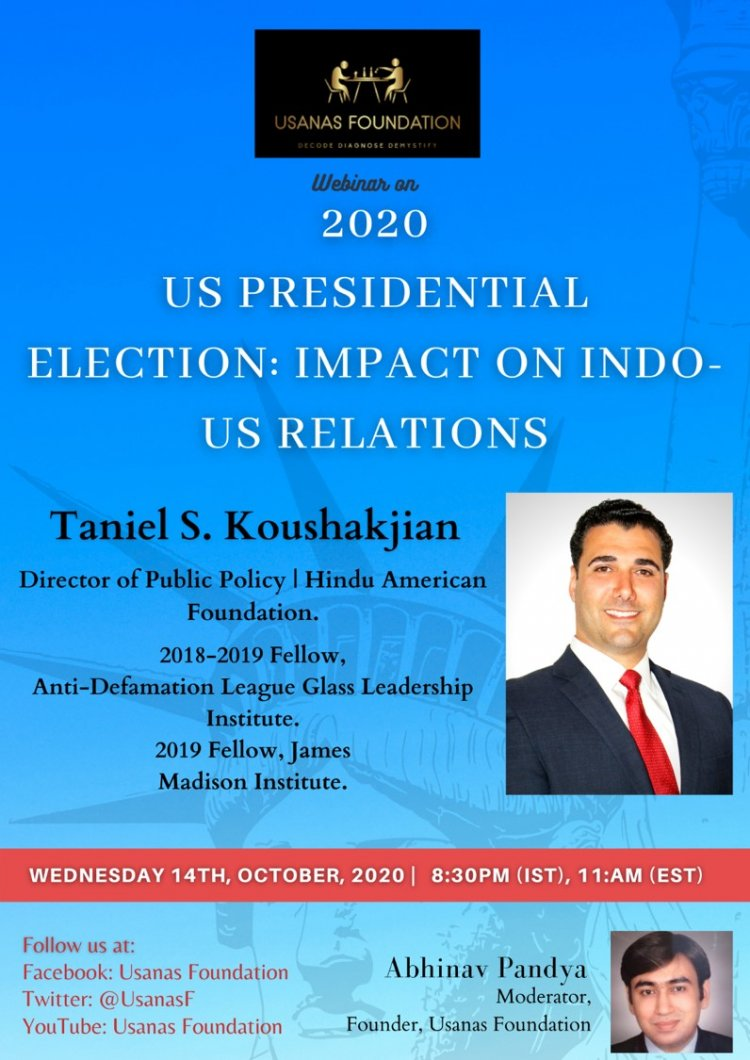 Webinar US Elections 2020 and its Impact on India-US Relations