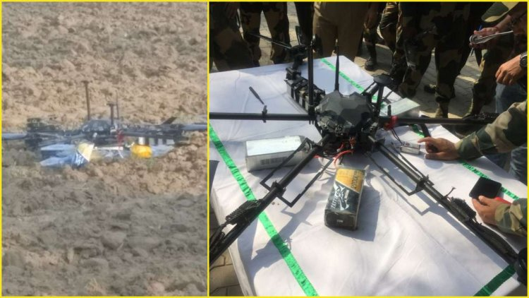 Photo Courtesy: DNA, Pakistani spy drone shot down by the Border Security Force(BSF) in Kathua