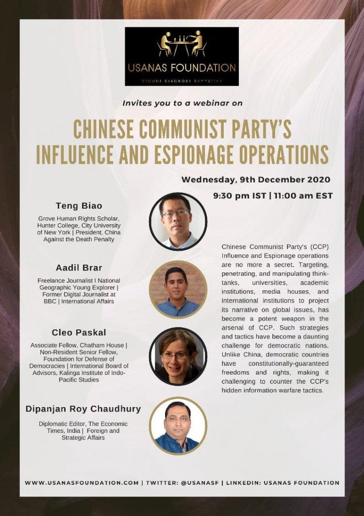 Webinar: China's Influence and Espionage Operations