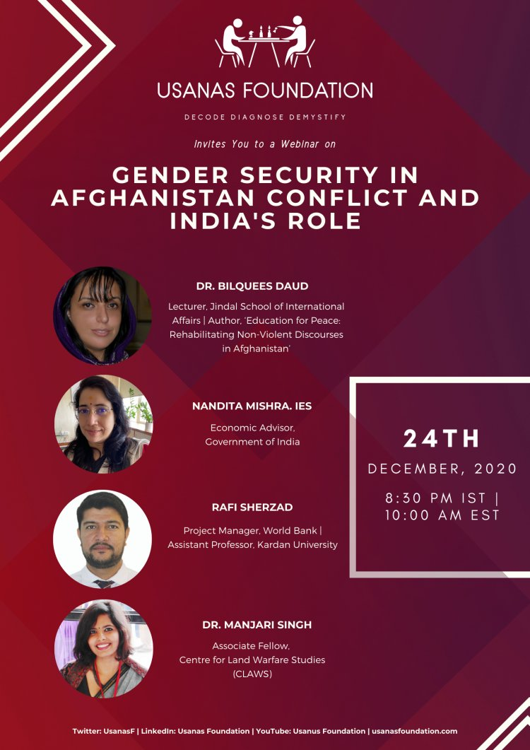 Webinar: Gender Security in Afghanistan Conflict and India's Role