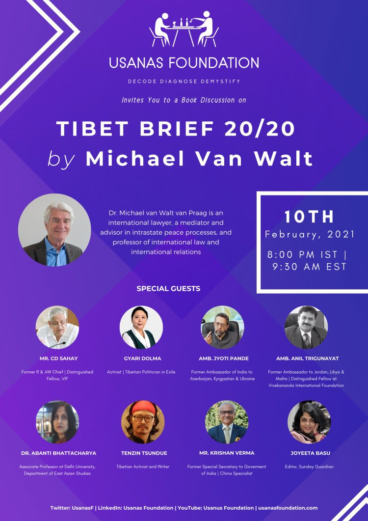 Book Discussion: TIBET BRIEF 20/20 by Michael Van Walt and Miek Boltjes