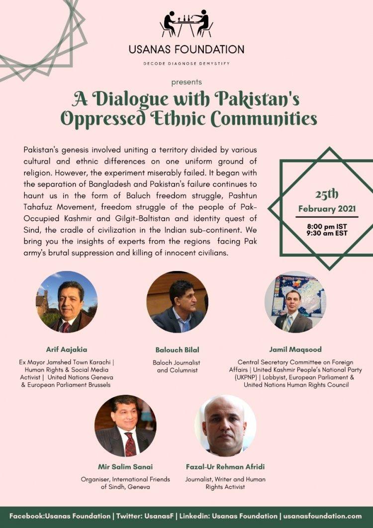 Webinar: A Dialogue with Pakistan's Oppressed Ethnic Minorities